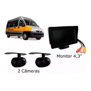 Kit Câmera Frontal + Ré Van Escolar + Monitor Lcd 4.3