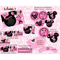 Mimi Mause Invitacion, Kit Implimible Minnie Mouse,