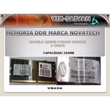 Memoria Ddr Novatech 256mb Pc-3200 400mhz 4 Chips 4