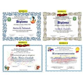 Diplomas Preescolar 6to Grado Y Bachiller
