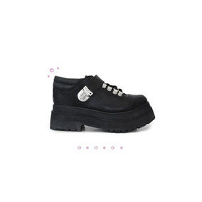 Sofia De Grecia - Zapatos Cuero Negro Dallas Tom