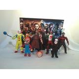 6 Figuras Terror Chucky Jason Saw Freddy It Con Escenarios