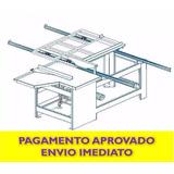 Projeto Mecânico De Serra Esquadrejadeira Marcenaria Simples