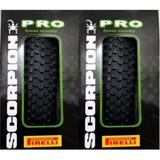 Par 2 Pneus Mtb 27.5 X 2.20 Pirelli Scorpion Pro Kevlar 2018