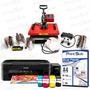 Kit Sublimação Prensa 8x1 110v + Impressora + Papel