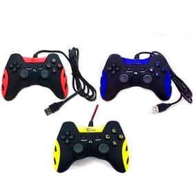 Controle Joystick Com Fio Corda P3 E Pc Smash Dual Feir 218a