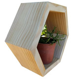 Repisas Hexagonales De Pino Cepillado. Deco-hogar