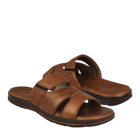 Sandalias Para Caballero Flexi Piel Tan 98702