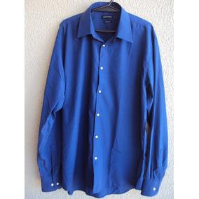 Camisa Social Masculina Manga Longa Colombo Azul Tam 5