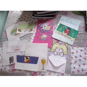 Lote 4: Com 6 Papeis De Carta Com Envelopes