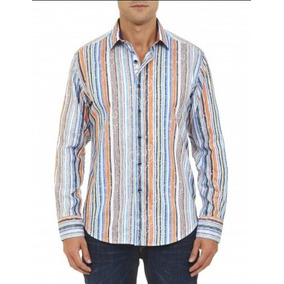 Camisa Robert Graham Lineas Estampadas
