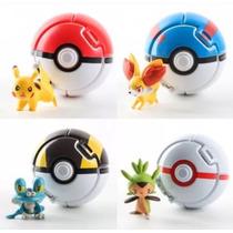 Set De 4 Pokebolas Throw Up Pop + Regalo 2 Mini Figuras