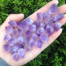 5 Amatistas En Bruto Cristales Mina Suerte Amuleto Amatista