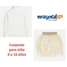 Conjunto De Blusa Y Falda Tul Niña Mayoral Talla 8 A 16