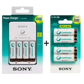 Carregador Sony Com 8 Pilhas Aa 2500 Recarregaveis Original