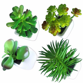 Suculenta Planta Artificial Kit 4 Unidades Festa Decoracao