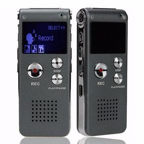 Gravador De Voz Digital 8gb Mp3 Player 8gb Recarregável