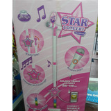 Micrófono Karaoke Pedestal Conexión Teléfono Mp3 Niños Niñas