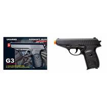 Pistola Airsoft Gun, Modelo G3, C/2000 Bbs Incluidos