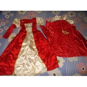 Bello Vestido De Reina Talla 10 Con Capa Y Corona Barato
