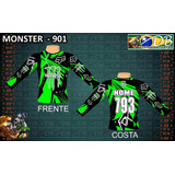 Camisa Trilha Off Road Personalizada Nome/ Numeral Monster