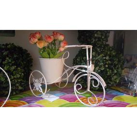Portamaceta Bici De Hierro Shabby Vintage Decoracion Bello¡