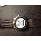 Relógio Magnum Antigo Pulseira De Couro 510am