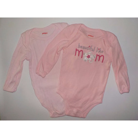 Baby Creysi Lote 2 Pañaleros Rosas Manga Larga 12-18 Meses