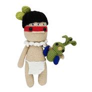 Amigurumi Nativo Con Quetzal Hecho A Mano En Crochet