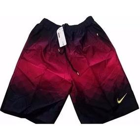 Bermuda Short De Tactel Nike Masculino Com Bolsos Ziperes