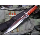 Cuchillo Daga Tactica Puñal Militar Wood Deluxe Combate Caza