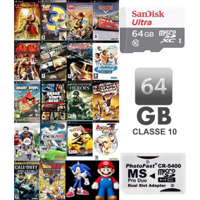 Cartão 64gb Sandisk (classe 10) + De 3200 Patch Inclusos