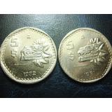 Monesa 5 Pesos Quetzalcoatl Niquel Condicion Usado