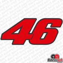 Adesivo 46 Valentino Rossi Vr46 Moto Corrida Gp Várias Cores
