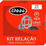 Kit Relação Honda Cg 125 Titan 99 - Fann - Alta Qualidade