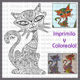 Imprimible Infantil Pintar Y Colorear Dibujo Zen Zentangle