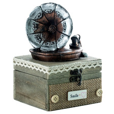 Pk Caja Musical Alhajero Fonografo Retro Decorativos Kq708