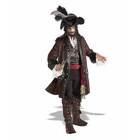 Disfraz Jack Sparrow Traje Lujo Piratas Del Caribe Adulto