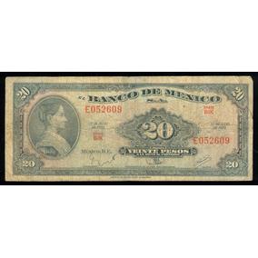 Billete De Mexico Año 1970 La Corregidora 20p Serie Bik