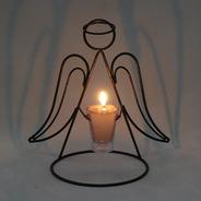Anjo Porta Vela Natal Decorativo Candelabro Castiçal Ceia