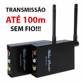 Transmissor Av Audio Video Sem Fio Wireless Até 100m Wifi