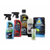 Lavagem A Seco Automotivo + 4 Produtos E Pano Microfibra