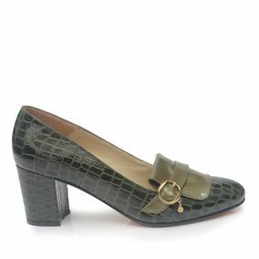 Zapato Bajo Charol Charolado Mujer Paz - Ferraro