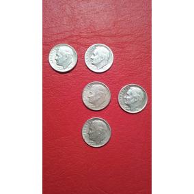 5 One Dime Liberty Com Datas Diferentes Prata