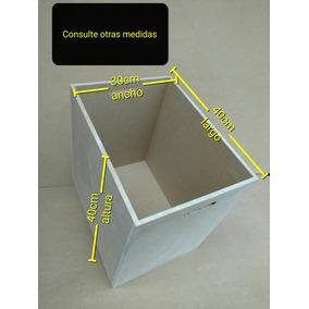 Cajon Multiuso Tamaño Grande Fibrofacil 40x30x40 Para Pintar