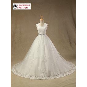 Vestido De Noiva Tule Princesa Promoção Brinde Sob Encomenda