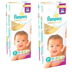 Kit Fralda Pampers Premium Care Tam. P C/112 Unidades