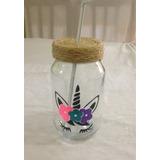 Mason Jars Unicornio Etiqueta Vasos Fiesta Decoracion Vinil