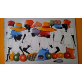 Tripticos Tipicos Caribe Lienzo Algodon Pintado A Mano