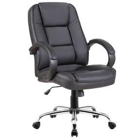 Cadeira Escritório Noll Low Giratória Couro Sintetico Preto